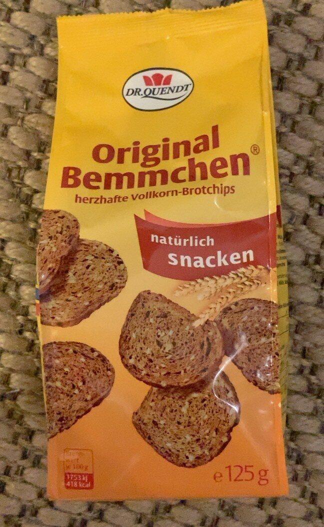 Original Bemmchen herzhafte Vollkorn-Brotchips - Product - de