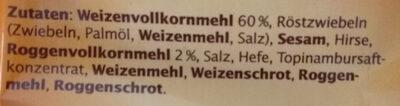 Original Bemmchen herzhafte Vollkorn-Brotchips - Ingredients - de
