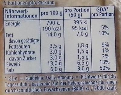 Edler RügenMatjes - Nutrition facts