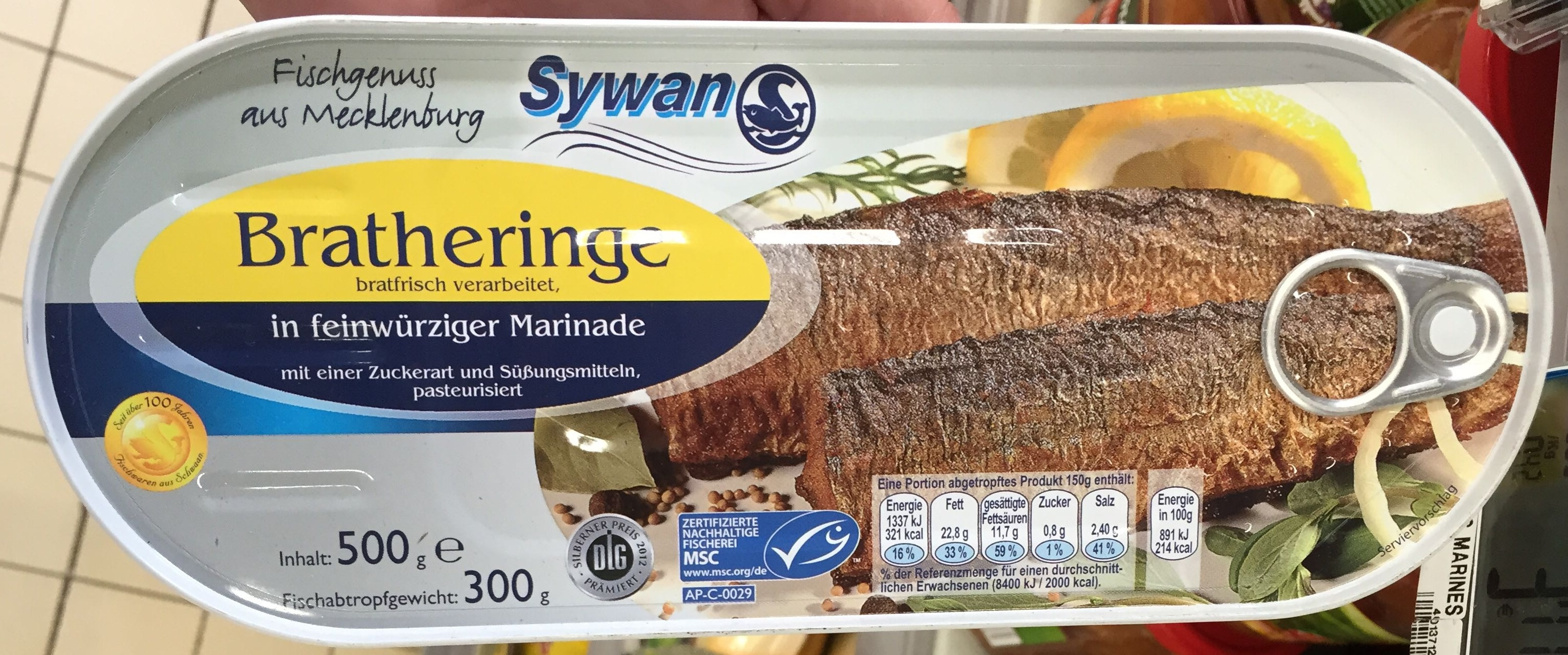 Bratheringe in feinwurziger marinade - Produit - fr