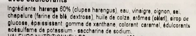 Bratheringe in feinwurziger marinade - Inhaltsstoffe
