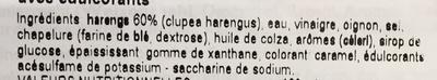 Bratheringe in feinwurziger marinade - Ingrédients - fr