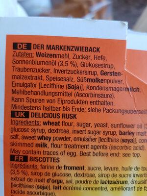 Brandt - Ingrediënten
