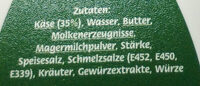 Kräuter Rahmstufe - Ingredients