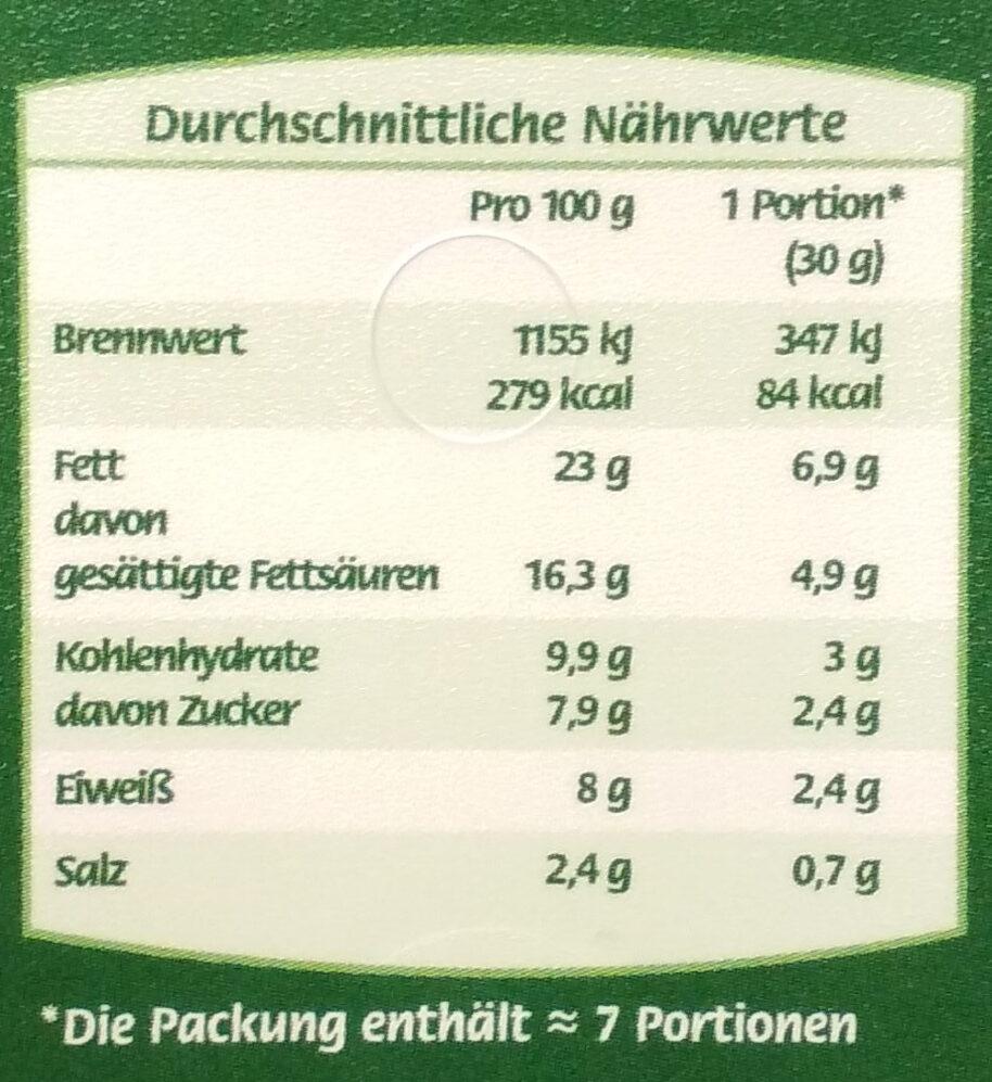 Kräuter Rahmstufe - Nutrition facts