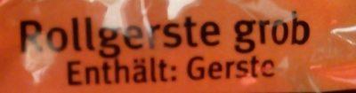 Rollgerste (Graupen) grob - Ingrediënten - de
