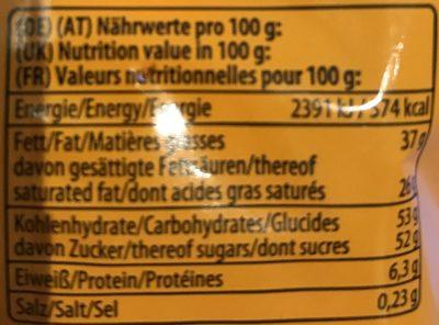 Riegelein Halloween Monsteraugen Fairtrade - Voedingswaarden