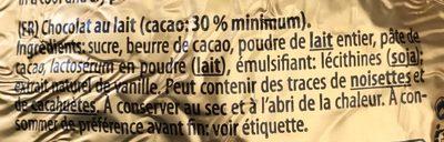 Confiserie chocolat au lait - Ingredients - fr
