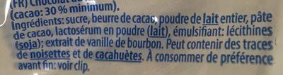 Chocolats père noel Riegelein - Ingrédients - fr