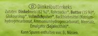 Dinkel Butterkeks - Ingredients - de