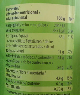 Doppel Keks, Mit Quinoa Und Zartbitter-creme - Nutrition facts