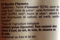 Fair duo cacao - Ingrédients