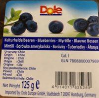 Myrtilles - Ingrediënten - fr