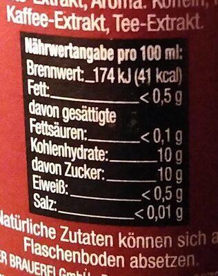 Mate-Cola - Valori nutrizionali - de