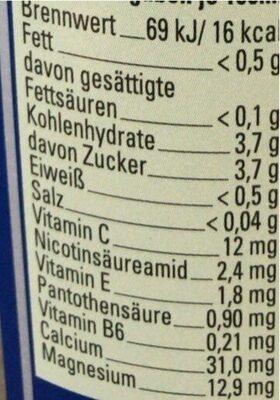 Gloroetta ISO SPORT - Informations nutritionnelles - de
