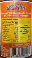 Oettinger Glorietta Ace, Orange Karotte - Voedingswaarden - de