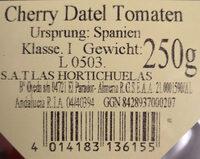 Cherry Datel Tomaten - Inhaltsstoffe - de