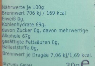 Styrum's Pur Fresh Xylitol Zahnpflege - Valori nutrizionali - de