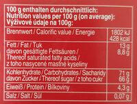 Original Halloren Kugeln Sahne-Cacao - Informations nutritionnelles