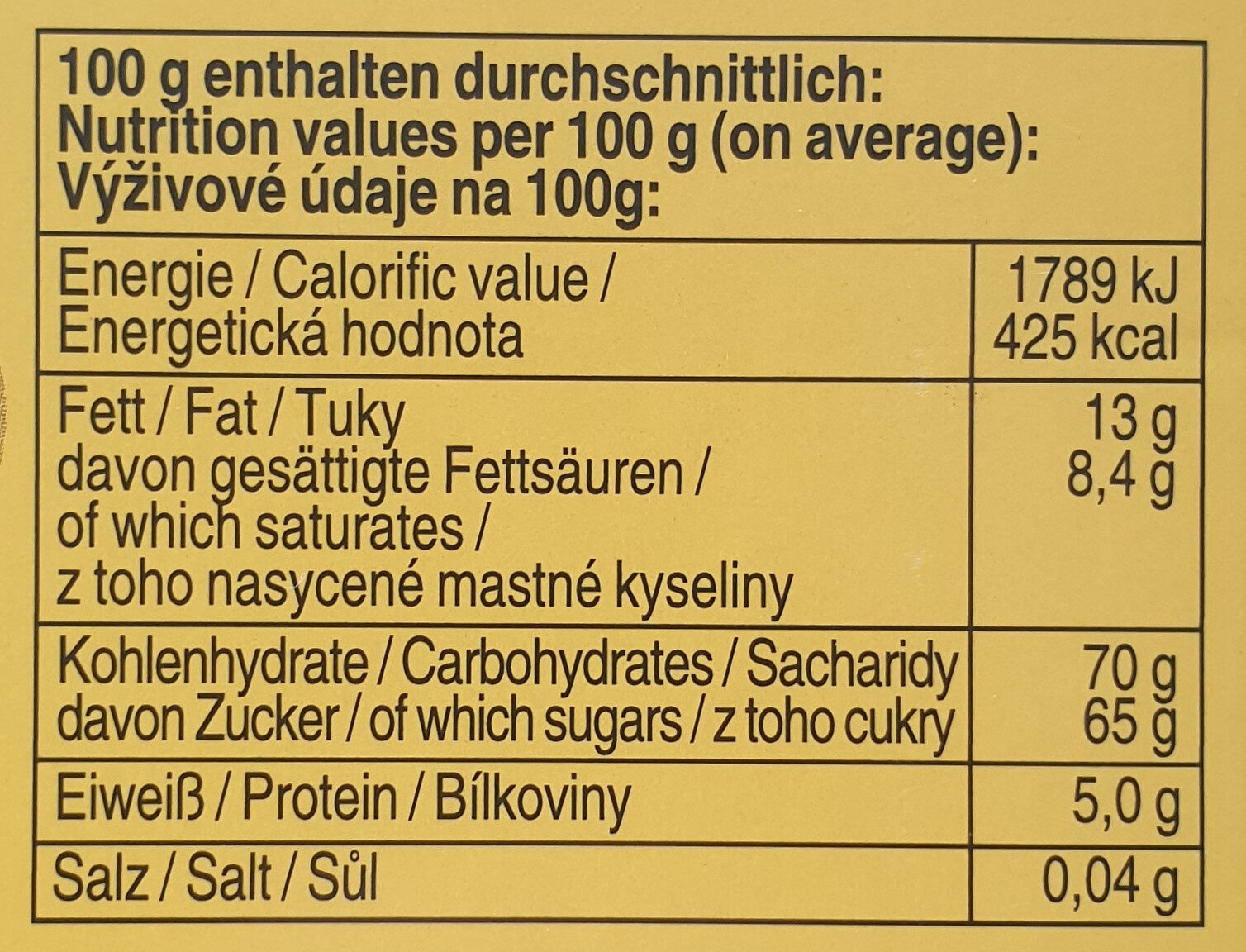 Halloren Kugeln - Informations nutritionnelles - de