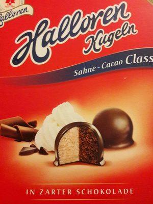 Halloren Original Halloren Kugeln Sahne cacao Classic - Produkt