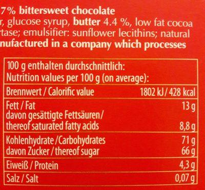 Halloren Original Halloren Kugeln Sahne cacao Classic - Inhaltsstoffe