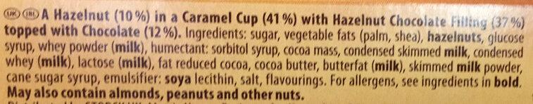 Toffifee - Ingredienser
