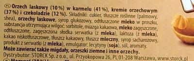 Toffifee - Składniki - pl