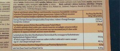 Toffifee - Informations nutritionnelles - en