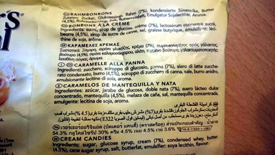 Original classic cream candies - Ingredients - en