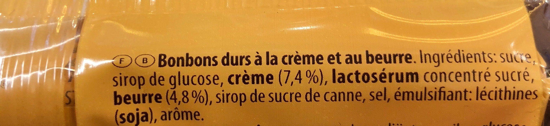 Werther's original sans sucre - Ingredients - fr