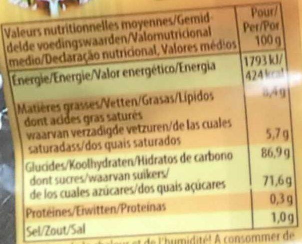 Werther's original sans sucre - Nutrition facts - fr