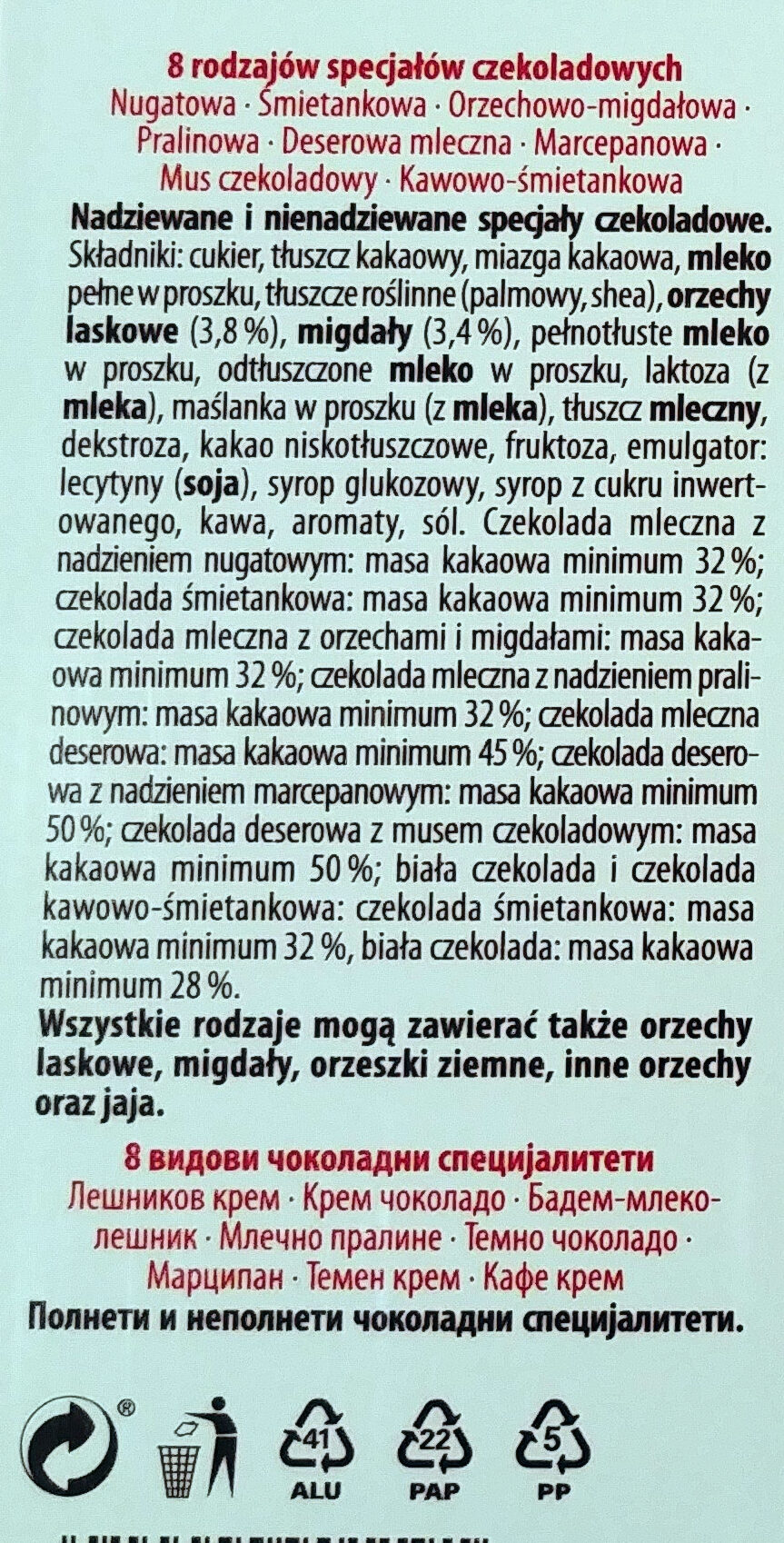 Merci Finest Selection - Składniki