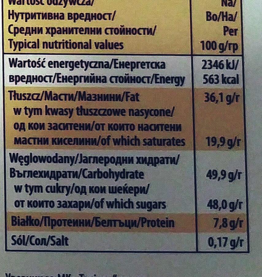 Merci finest selection - Хранителна информация - bg