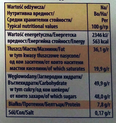 Merci Finest Selection - Nutrition facts