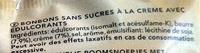 Werther's Original - Bonbons Classiques Sans Sucre - Ingrédients