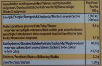 Bonbons à le crème - Informazioni nutrizionali - fr