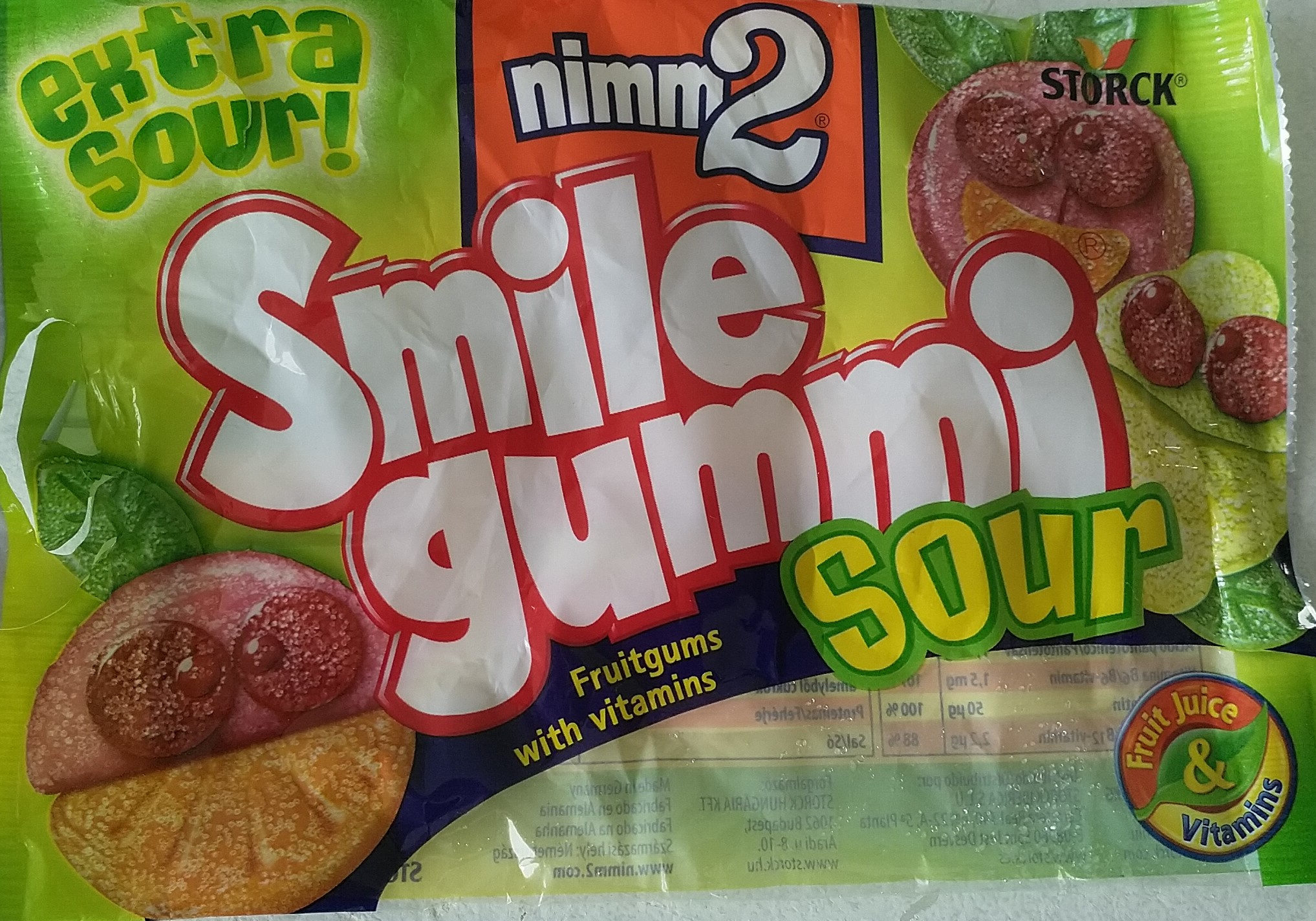 smile gummi sour - Product - fr