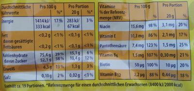 Nimm 2 Lachgummi - Nutrition facts