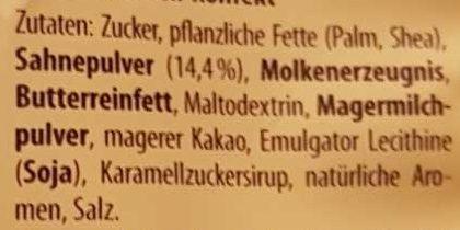 Caramelts - Ingrediënten - de