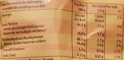 Caramelts - Voedingswaarden - de
