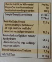 Merci Tafelschokolade Edel-nougat - Nährwertangaben
