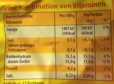 Nimm2 Lachgummi Softies - Informations nutritionnelles - de