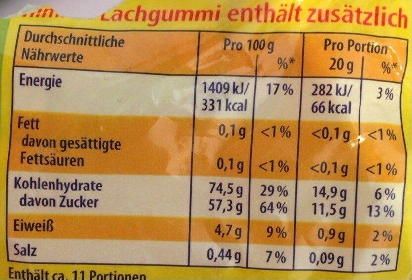 Lachgummi Softies sauer - Nährwertangaben - de