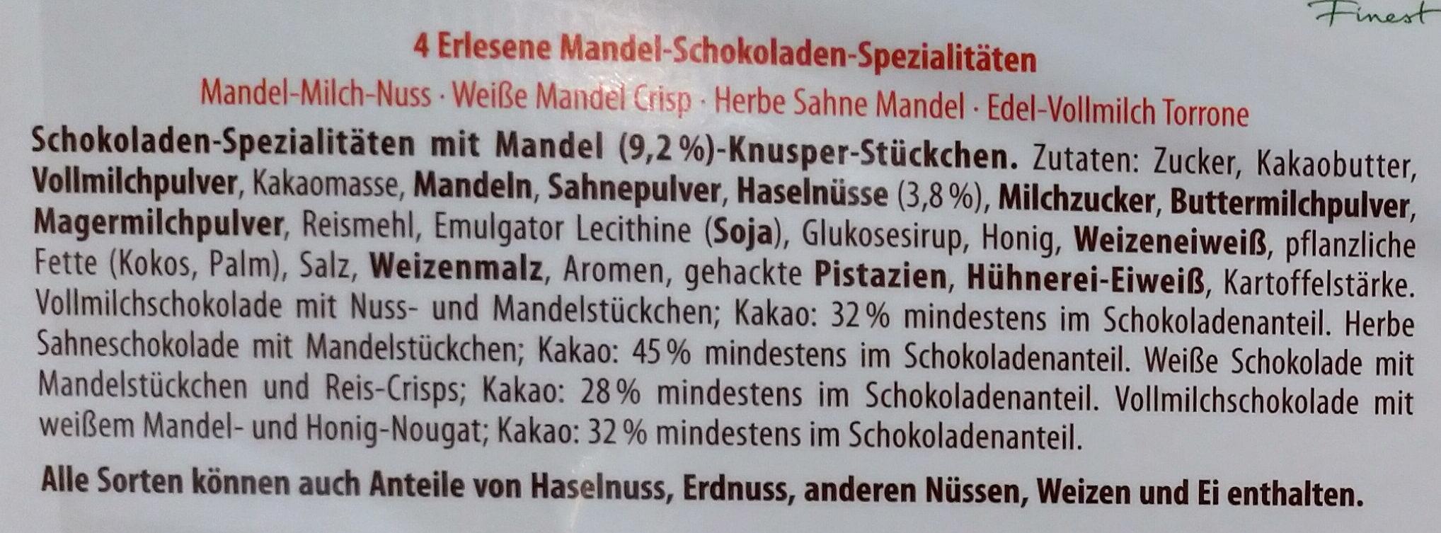 Finest Selection Mandel Knusper Vielfalt - Ingrediënten - de