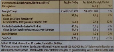 Finest Selection Mandel Knusper Vielfalt - Nutrition facts