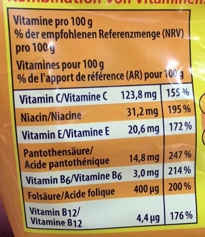 Soft Brause Orange Apfel Kirsche Zitrone - Informations nutritionnelles - fr