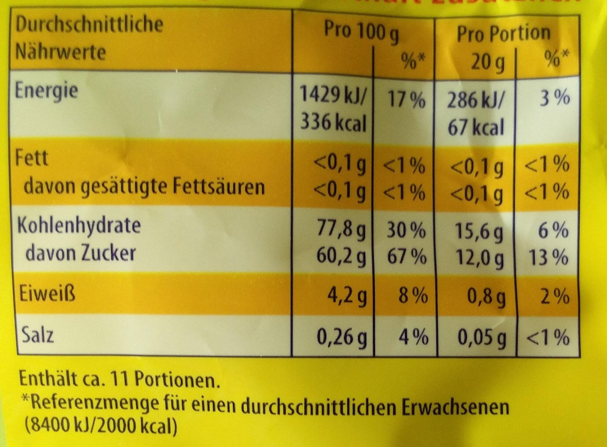 Lachgummi Apfellinge - Nutrition facts - de
