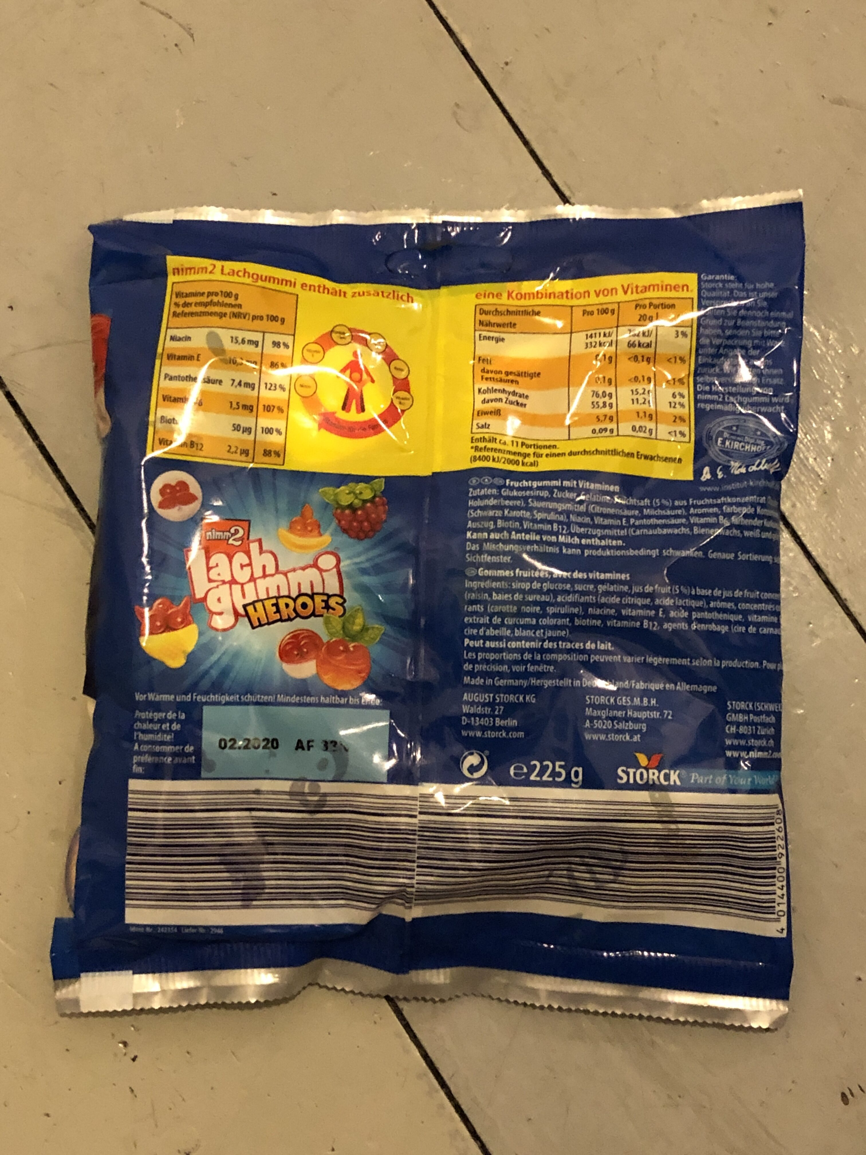 Nimm2 Lachgummi Heroes - Nutrition facts - en