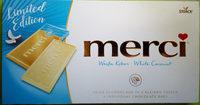 Merci Tafelschokolade Weiße Kokos - Produkt